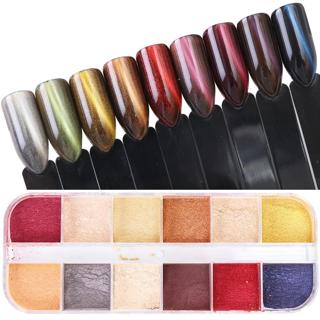1pcs Nail Art Glitter Pigment Cat Eyes Design Chrome Nail Powder Dust Mirror Effect Manicure Polis