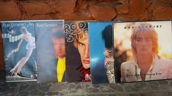 ROD STEWART, 5 RECORDS....
