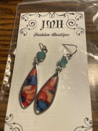 New... dangle earrings watercolor