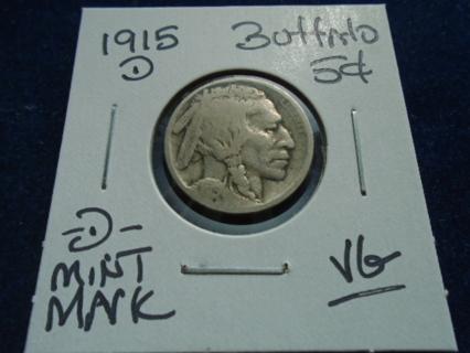 1915-D BUFFALO NICKEL -D- MINT MARK!