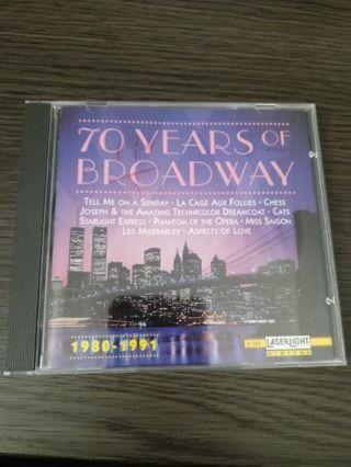 70 years of Broadway CD