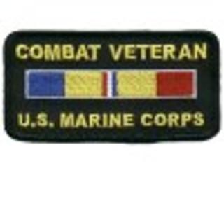 USMC combat vetern patch