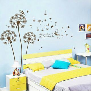 Quote DIY Dandelion Wall Mural Home Decor
