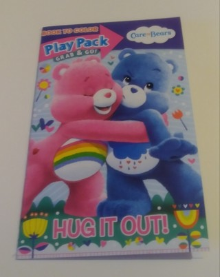 CARE BEARS SMALL COLORING BOOK WITH STICKERS USE YOUR OWN CRAYONS