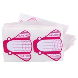 50/100PCS Nail Form DIY Nail Art Extension Guide Forms Acrylic UV Gel Nail Art Tip Sticker Manicur