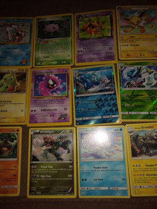 Lot 2 of 12 + new vintage Pokemon trading cards get whats i the picture  + 1999 foil