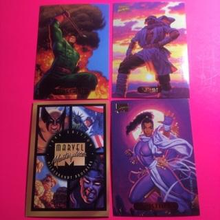 4 Marvel Masterpiece 1994 Cards