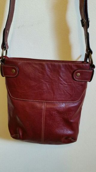 Beautiful Oxblood Red Leather Handbag By Axcess Liz Claiborne