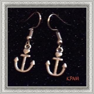 "(❁´◡`❁) ""Anchor Earrings "" (❁´◡`❁) Pretty!! ^_^ Brand New!!"