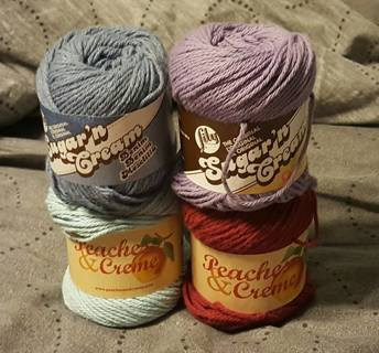 SUGAR & CREAM/PEACHES & CREAM 100% COTTON YARN