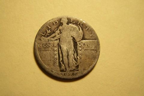 Silver 1925 Standing Liberty Quarter