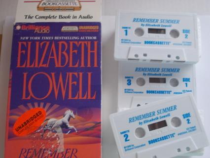 """Remember Summer"" by Elizabeth Howell AudioBook on Cassette"