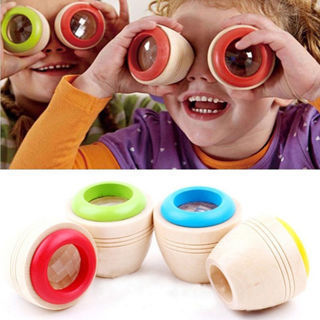 Wooden Educational Magic Kaleidoscope Children Kids Interesting Development Toy