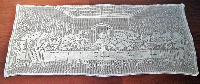 Free The Last Supper Filet Crochet Pattern Pdf Format Crochet
