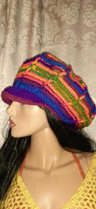 Crochet funky hat