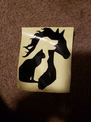 Dog Cat and Horse Decal