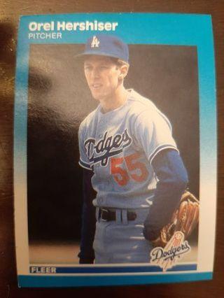 1987 Fleer Orel Hershiser baseball card
