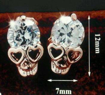 CRYSTAL SKULL Earrings, Mayan Symbol for Accessing Higher Consciousness, Plus Choice of Earrings