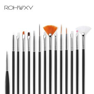 ROHWXY Nail Brush For Manicure Gel Brush For Nail Art 15Pcs/Set Ombre Brush For Gradient For Gel N