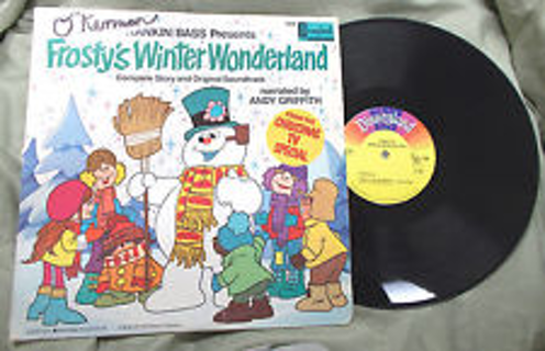 Andy Griffith ‎– Frosty's Winter Wonderland LP [Mono] Soundtrack, Ranklin/Bass