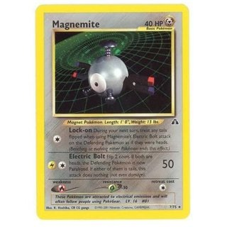 Pokemon TCG! - Magnemite 7/75 - Holo Rare Neo Discovery Pokemon Cards Singles