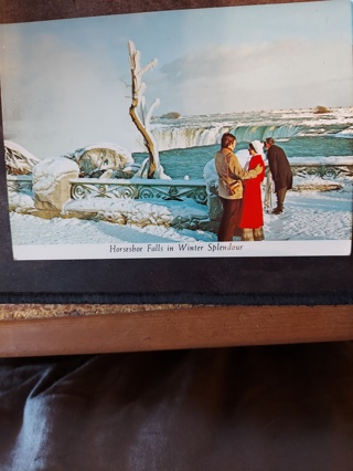 Horseshoe Falls In Winter Postcard