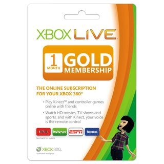 Xbox 360 one month gold card