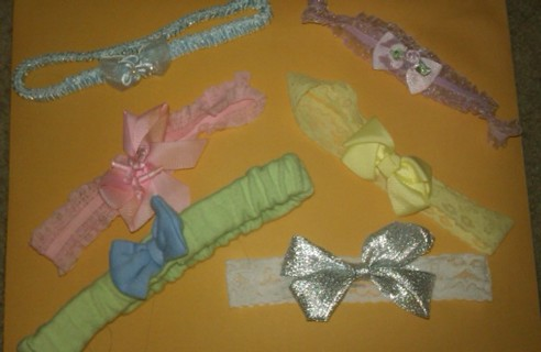 6 of the cutest headbands w/ bows for a baby girl!!