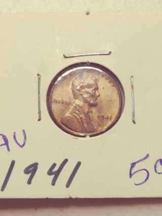 1941 Lincoln Wheat Penny! Nice Red!!! 101