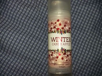 Winter candy apple bath and body works shimmer lotion