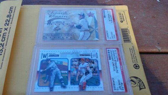 2 PSA GEM MINT Baseball Cards ...!!!