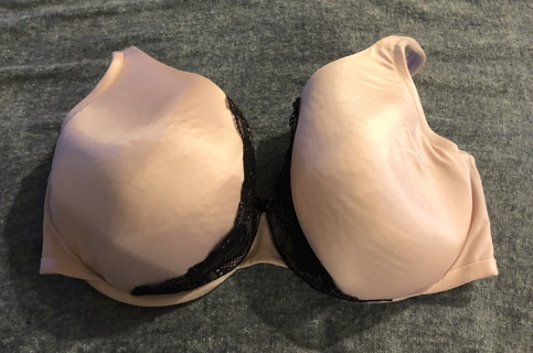 Gently Used, Pink Lace Size 40F CACIQUE Gentle Comfort Underwire, Soft and Beautiful Bra