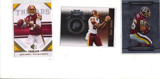 (3) FOOTBALL CARDS ~WASHINGTON REDSKINS