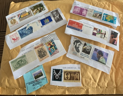 ~Stamps~ Cancelled, 5 count