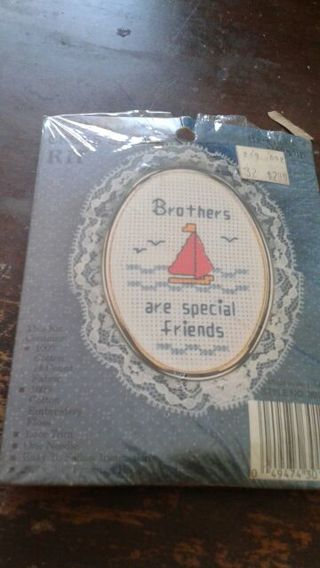 Brothers cross stitch kit