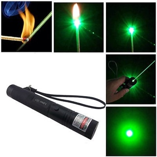 Fashion Focus Military Green Laser Pointer Pen 5mw 532nm Zoomable Burning EA
