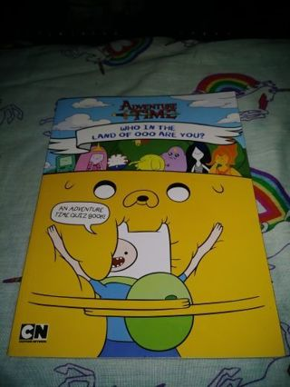 """❤✨❤✨❤BRAND NEW ADVENTURE TIME """"WHO IN THE LAND OF OOO ARE YOU?"""" QUIZ BOOK❤✨❤✨❤"""