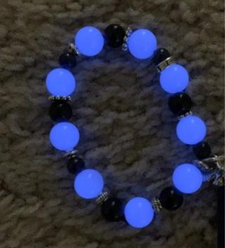 Mexican Aragonite GLOWS IN DARK Beaded Bracelet Custom Made In Your Size