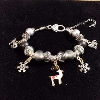 Winter Wonders,  Euro bracelet, Creations by Cris