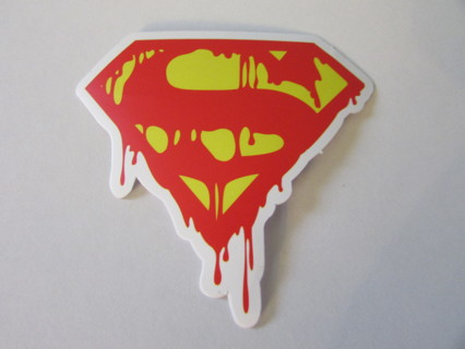 DRIPPING SUPERMAN LOGO Vinyl Sticker- Helmet/Car/Skateboard/Business/Crafts