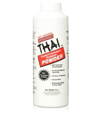 Thai Crystal Deodorant Natural Crystal & Cornstarch Deodorant Foot Body Powder
