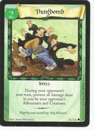 Harry Potter Trading Card game card Dungbomb