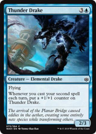 Thunder Drake MTG War Of The Spark NM Magic Regular