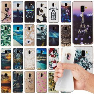 For Samsung A6 A8 2018 A3 A5 A7 2017 Painted Slim Soft Silicone TPU Cover Case