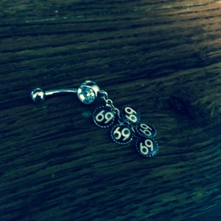 dangle belly button ring