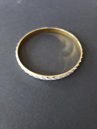 Vintage NAPIER White & Gold Bracelet