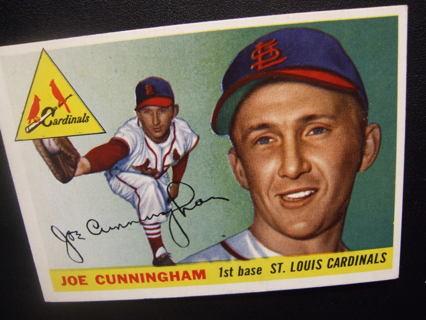 1955 TOPPS BASEBALL CARD NO. 37 - JOE CUNNINGHAM - CARDINALS - PSA WORTHY