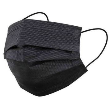 ~ NEW 10 PACK 3 Layered Black Face Mask ~ Be Safe & Be Well! ~