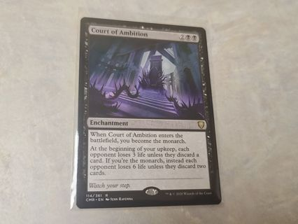 Magic the gathering mtg Court of Ambition rare card Commander Legends