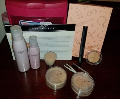Sheer Cover Beauty Kit.Skin care,Makeup,Gift Cards,jewelry,Nail, Plus More, Wow!